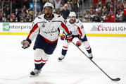 Washington Capitals right wing Devante Smith-Pelly, left, celebrates his goal during Game 5 of the NHL hockey Stanley Cup Finals against the Vegas Golden Knights, June 7. (AP Photo/John Locher)