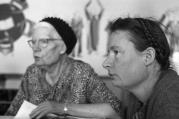 Dorothy Day and her daughter, Tamar (photo courtesy of Kate Hennessy)