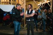 Jim Whitaker and Chris Pine on the set of 'A Wrinkle of Time'