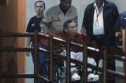 A December 2011 photo of Panama ex-dictator Manuel Noriega at El Renacer Prison outside Panama City. (AP Photo/Esteban Felix, File)
