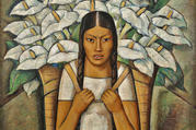 Ramos Martinez, 'Calla Lily Vendor' (photo: The Whitney Museum of Art)