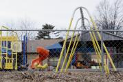 In this photo taken on Jan. 26, 2016, the empty playground at Trinity Lutheran Church in Columbia, Mo. (Annaliese Nurnberg/Missourian via AP)