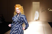 Vivienne Westwood in 2007 closing her show at Paris Fashion Week (photo: Greenwich Entertainment)