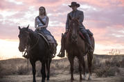 Dolores (Evan Rachel Wood) and Teddy Flood (James Marsden) in 'Westworld' (photo: HBO)