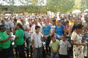 Hundreds marched through the streets of El Progreso, Honduras, on Sept. 14 to honor the life of Jim (Guadalupe) Carney, S.J., of St. Louis, Mo. (Credit: Radio Progreso)
