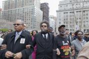 There are a few genuine public intellectuals among professors of religion, and Cornel West is chief among them. Here he is pictured, center, protesting against police brutality in New York City in 2015.