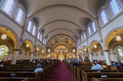 A Mass is celebrated at Star of the Sea Catholic Church in San Francisco. (iStock/yhelfman)