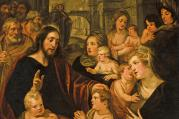 "Detail of ""Christ Blessing the Children,"" by Artus Wolfaerts. Photo: Wikimedia Commons/bonhams"