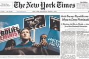 The cover of the New York Times on March 3, 2016
