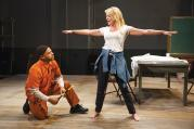 "STAGE MOTHER. Ryan Quinn and Sherie Rene Scott in ""Whorl Inside a Loop"""