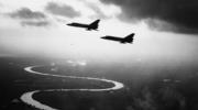 US Air Force F-106As in flight in the early 1960s. Planes such as these were on high alert and ready to launch airstrikes on Soviet missile positions in Cuba during the Cuban Missile Crisis in October, 1962. (U.S. Air Force photo)
