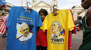 A Philippine vendor sells T-shirts of Pope Francis in front of a church in Manila, Philippines, Jan. 4. Pope Francis is scheduled to visit the Philippines Jan. 15-19. (CNS photo/Francis R. Malasig, EPA)