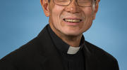 Bishop Thanh Thai Nguyen is seen in this undated photo. He entered the country as a young refugee from Vietnam in 1973. (CNS photo/courtesy Diocese of St. Augustine)