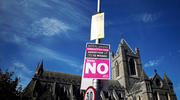 Outside Christ Church (Anglican) Cathedral in Dublin on May 7. (CNS photo/Clodagh Kilcoyne, Reuters)