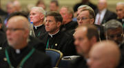 Bishops attend the fall general assembly of the U.S. Conference of Catholic Bishops in Baltimore Nov. 11, 2019. (CNS photo/Bob Roller)