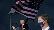 President Donald Trump speaks at a campaign rally at Des Moines International Airport on Oct. 14, in Des Moines, Iowa. (AP Photo/Alex Brandon)