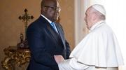 Pope Francis welcomes Congolese President Félix Tshisekedi to the Vatican Jan. 17, 2020. (CNS photo/Vatican Media)