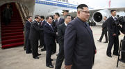 North Korean leader Kim Jong Un arrives at the Changi International Airport on June 10 in Singapore ahead of a summit with U.S. President Donald Trump. (Ministry of Communications and Information of Singapore via AP)