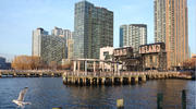 Long Island City, a riverfront neighborhood in the Queens borough of New York, was the proposed site for a new Amazon headquarters. (AP Photo/Bebeto Matthews, FIle)