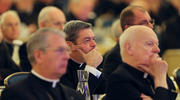 Bishops listen to a speaker Nov. 13 during the fall general assembly of the U.S. Conference of Catholic Bishops in Baltimore (CNS photo/Bob Roller).