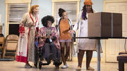 "Elizabeth Canavan, Patrice Johnson Chevannes, Kara Young and Benja Kay Thomas in ""Halfway Bitches Go Straight to Heaven"" (photo: Monique Carboni)."