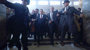 'The Irishman' focuses on hitman Frank Sheeran (Robert DeNiro) and Sheeran's years-long relationship with the longtime Teamsters union president Jimmy Hoffa (Al Pacino) (photo: Netflix).