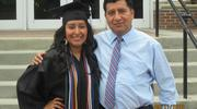 Belsy García Manrique, a student at Loyola University Chicago's Stritch School of Medicine, with her father, Felix.
