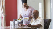 The role of caring for elderly family members is increasingly falling to mid-life adults. (iStock/kali9)