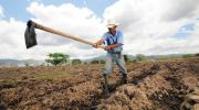 SOWING THE FUTURE. Can private investment be put to work against poverty? A farmer digs irrigation channels in Alauca, Honduras.