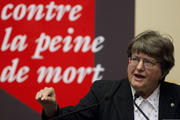 Sister Helen Prejean, a Sister of St. Joseph of Medaille, and an advocate for the abolition of the death penalty, is pictured in a 2010 photo in Geneva. (CNS photo/Salvatore Di Nolfi, EPA)
