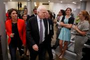 "Sen. John McCain, R-Ariz., speaks with reporters ahead of a health care vote on July 27 on Capitol Hill in Washington. The Senate rejected legislation to repeal parts of the Affordable Care Act, with McCain casting a decisive ""no."" (CNS photo/Aaron P. Bernstein, Reuters)"