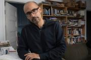 Author Junot Díaz at his home in Cambridge, Mass.