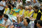 Comfort Women rally in front of the Japanese Embassy in Seoul, August 2011. (Photo from Wikimedia Commons/Claire Solery)