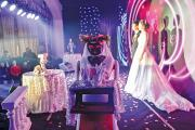 AT YOUR SERVICE. A robot, invented for restaurant service, serves as a bridesmaid at a wedding in Tianjin, Nov. 1, 2015.