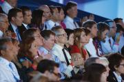 CITIZENS UNITED. The audience at the Reagan Presidential Library applauds during the second official Republican debate of the 2016 U.S. presidential campaign in Simi Valley, Calif., on Sept. 16.