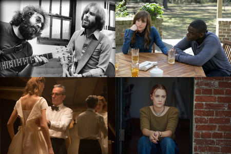 "Photos: clockwise from top left: ""Long Strange Trip"" (Amazon Studios); ""Get Out"" (Universal Pictures); Phantom Thread"" (Focus Features); and ""Lady Bird"" (A24)"