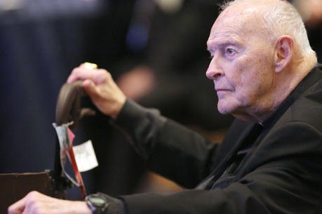 Cardinal Theodore E. McCarrick, retired archbishop of Washington, is pictured in a 2017 photo (CNS photo/Bob Roller)
