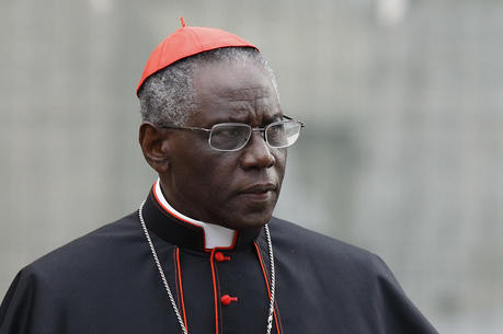 Cardinal Robert Sarah, prefect of the Congregation for Divine Worship and the Sacraments, is pictured at the Vatican in this Oct. 9, 2012, file photo. (CNS photo/Paul Haring)