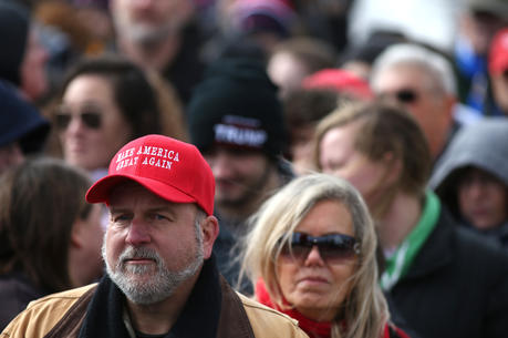 A President Donald Trump supporter is see seen at the annual March for Life in Washington Jan. 27. (CNS photo/Tyler Orsburn)