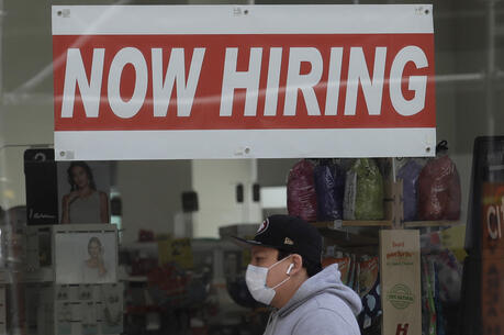 A sign of employment gains in San Francisco. (AP Photo/Jeff Chiu, File)