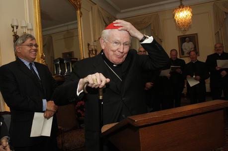 Cardinal William H. Keeler in May 2009. (CNS photo/Gregory A. Shemitz)