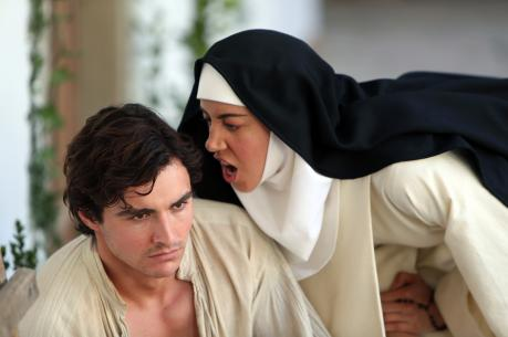 "Masseto (Dave Franco) and Sister Fernanda (Aubrey Plaza) in ""The Little Hours."" (photo: Sundance)"