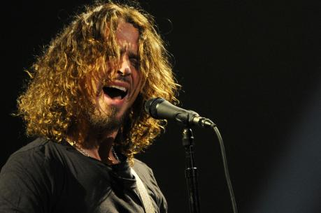 In this Feb. 13, 2013 file photo, Chris Cornell of Soundgarden performs during the band's concert at the Wiltern in Los Angeles (Photo by Chris Pizzello/Invision/AP, File)