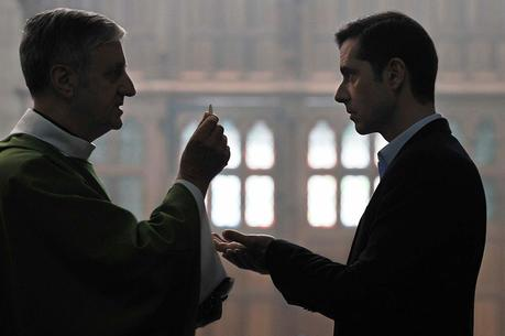Alexandre Guérin (Melvil Poupaud), right, plays a sexual abuse victim in 'By the Grace of God' (photo: IMDB).