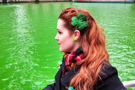 The Chicago River goes green for St. Patrick's Day. (iStock/ChelFoto)