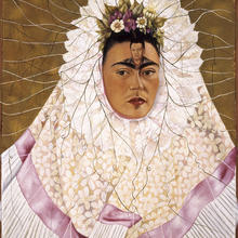Frida Kahlo (Mexican, 1907–1954). Self-Portrait as a Tehuana, 1943. Oil on hardboard, 30 x 24 in. (76 x 61 cm). The Jacques and Natasha Gelman Collection of 20th Century Mexican Art and the Vergel Foundation. © 2019 Banco de México Diego Rivera Frida Kahlo Museums Trust, Mexico, D.F. / Artists Rights Society (ARS), New York
