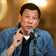Philippine President Rodrigo Duterte announces the disbandment of police operations against illegal drugs on Jan. 30 in Manila. (CNS photo/Ezra Acayan, Reuters)