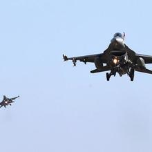 U.S. Air Force F-16 fighter jets fly over the Osan Air Base in Pyeongtaek, South Korea. (CNS photo/Oh Jang-hwan, News1 via Reuters)