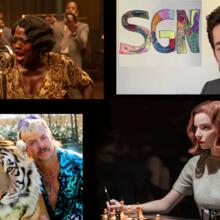 "Clockwise: ""Ma Rainey's Black Bottom,"" John Krasinski's ""Some Good News,"" ""The Queen's Gambit"" and ""Tiger King"" (photos: Netlfix, Youtube)"