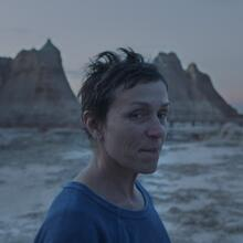 "Frances McDormand in ""Nomadland"" (CNS photo/Searchlight Pictures)."